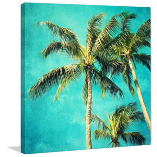 Marmont Hill - 'Hawaiian Palm Trees' by Sylvia Cook Painting Print on Wrapped Canvas