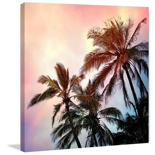 Marmont Hill - 'Palms and Sunset' by Sylvia Cook Painting Print on Wrapped Canvas