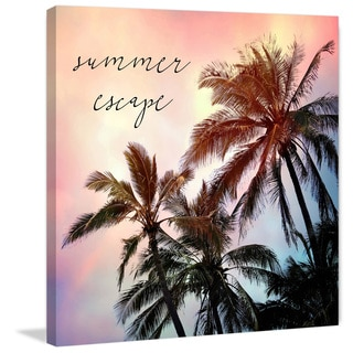Marmont Hill - 'Summer Escape' by Sylvia Cook Painting Print on Wrapped Canvas