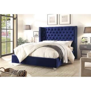 Aiden Navy Velvet Bed|https://ak1.ostkcdn.com/images/products/13525286/P20206357.jpg?impolicy=medium