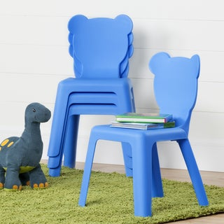 South Shore Crea Kids Plastic Stacking Chairs, 4-Pack