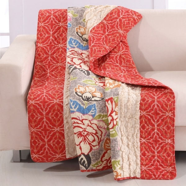 Barefoot Bungalow Gypsy Rose Ruffled Throw
