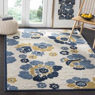 Safavieh Indoor/ Outdoor Cottage Ivory/ Blue Rug (3' 3 x 5' 3)