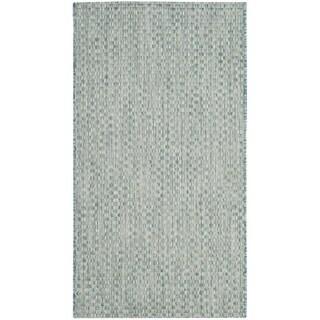 Safavieh Indoor/ Outdoor Courtyard Light Blue/ Light Grey Rug (3' x 5')