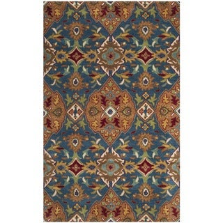 Safavieh Hand-Woven Heritage Camel/ Blue Wool Rug (3' x 5')