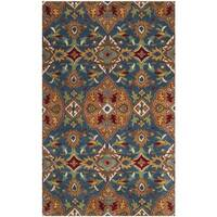 Safavieh Hand-Woven Heritage Camel/ Blue Wool Rug - 3' x 5'