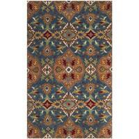 Safavieh Hand-Woven Heritage Camel/ Blue Wool Rug - 4' x 6'