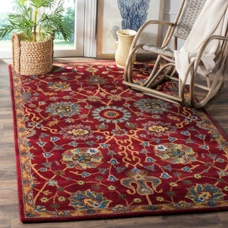 Safavieh Hand-Woven Heritage Red Wool Rug (4' x 6')