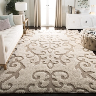 Safavieh Florida Ultimate Shag Cream/ Beige Shag Rug (8' 6 x 12')