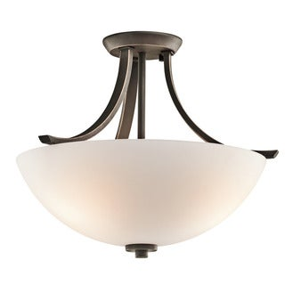 Kichler Lighting Granby Collection 3-light Olde Bronze Semi Flush Mount