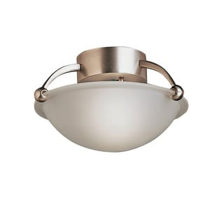 Kichler Lighting Contemporary 1-light Brushed Nickel Semi Flush Mount