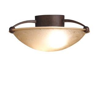 Kichler Lighting Contemporary 2-light Tannery Bronze Semi Flush Mount
