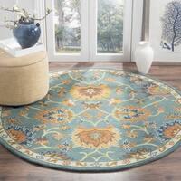 Safavieh Hand-Woven Heritage Light Blue Wool Rug - 6' Round
