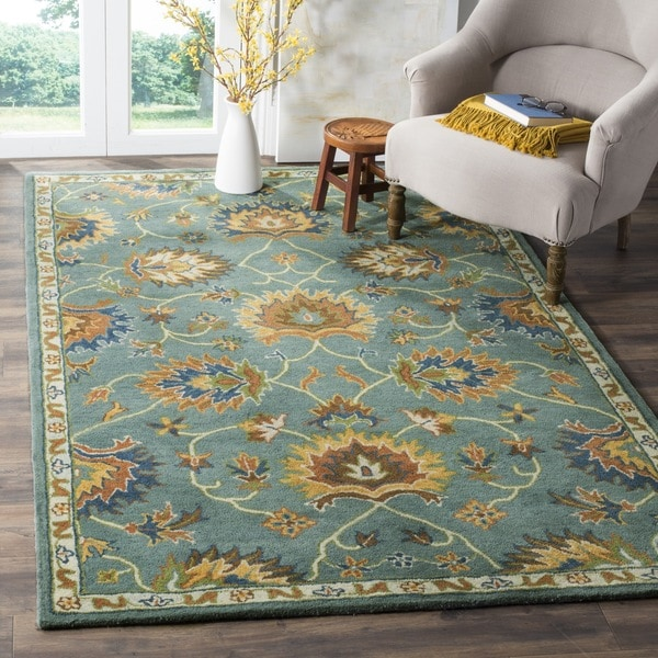 Safavieh Hand-Woven Heritage Light Blue Wool Rug (6' Square)