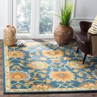 Safavieh Hand-Woven Heritage Navy Wool Rug - 6' Square