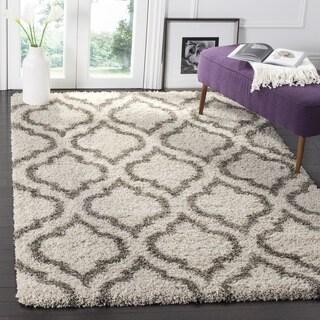 Safavieh Hudson Ivory/ Grey Shag Rug (7' Square)