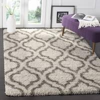 Safavieh Hudson Ivory/ Grey Shag Rug - 7' Square