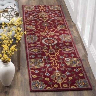 Safavieh Hand-Woven Heritage Red Wool Runner (2' x 8')
