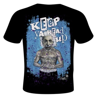 Men's Stephen Fishwick 'Keep Ya Head Up' Albert Einstein T-shirt