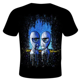 Stephen Fishwick Men's Pink Floyd 'Division Bell' Black Cotton Graphic T-shirt