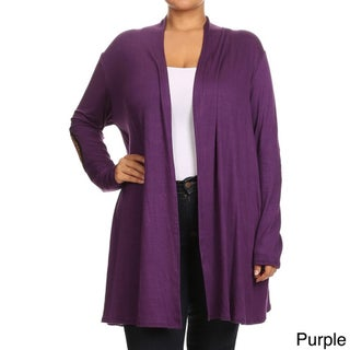 Women's Rayon and Spandex Plus-size Solid Neck-tie Tunic (Option: Purple - XL)