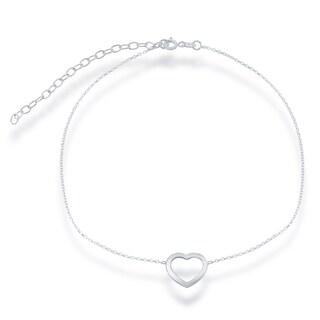 La Preciosa Sterling Silver Open Heart Choker Necklace