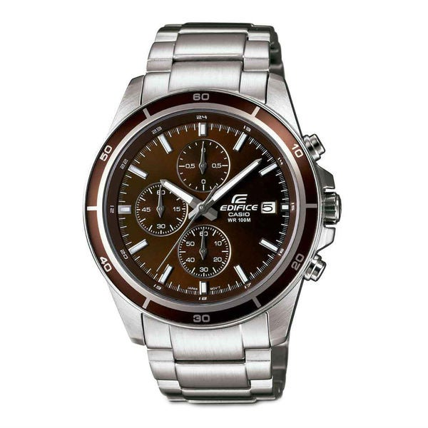 fbf34584fe9 Shop Casio Edifice Men s Brown Dial Watch - Free Shipping Today - Overstock  - 13525642