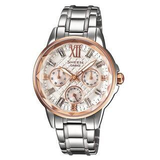 Casio Sheen SHE3029SG-7A Women's White Dial Watch