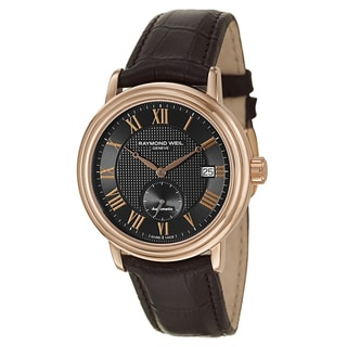 Raymond Weil Men's Rose Gold PVD Coated Stainless Steel Case Leather Strap Maestro 2838-PC5-00209 Automatic Watch