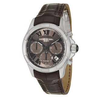 Raymond Weil Men's Stainless Steel Case Leather Alligator Strap Parsifal 7260-STC-00718 Automatic Chronograph Watch