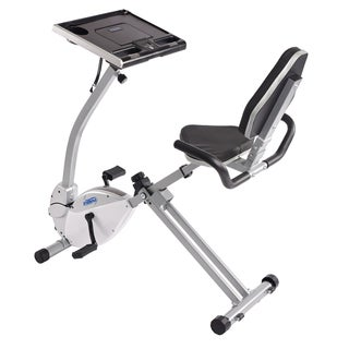 stamina 2in1 recumbent exercise bike workstation and standing desk