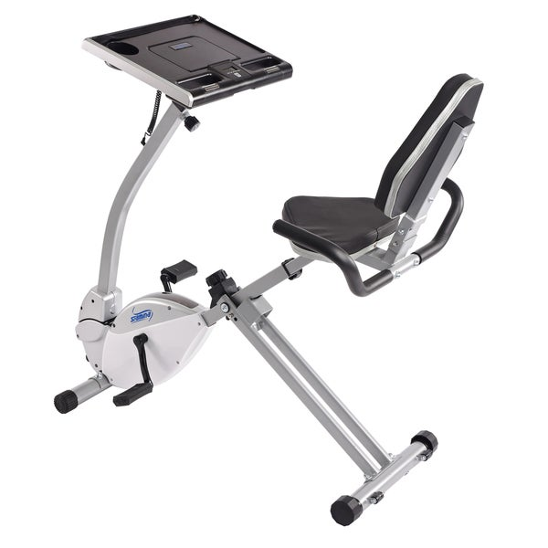Stamina 2 In 1 Recumbent Exercise Bike Workstation And Standing Desk