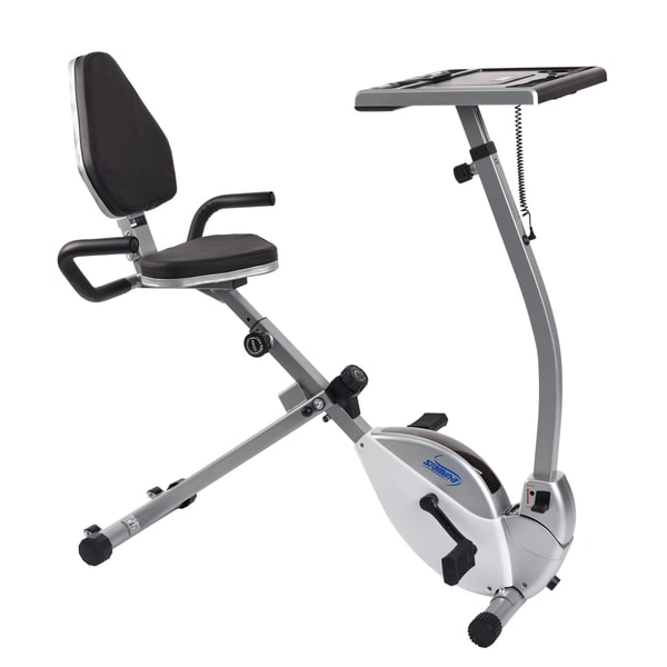 stamina 2in1 recumbent exercise bike workstation and standing desk free shipping today