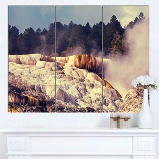 Designart 'Mammoth Hot Springs View' Landscape Art Print Canvas