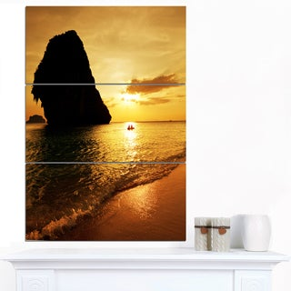 Designart 'Amazing Evening Tropical Beach' Seashore Wall Art Print