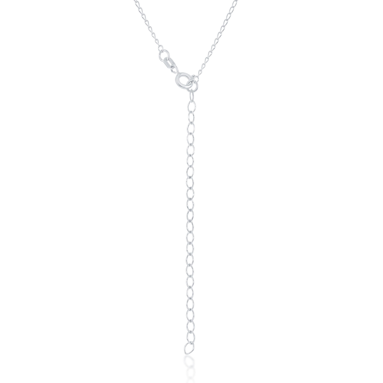 0a290994737d0 La Preciosa Sterling Silver Diamond-cut Sideways Cross Choker Necklace