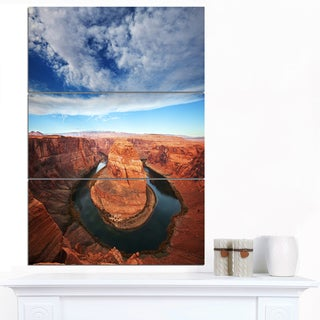Designart 'Horse Shoe Bend under Midday Sun' Oversized Landscape Canvas Art