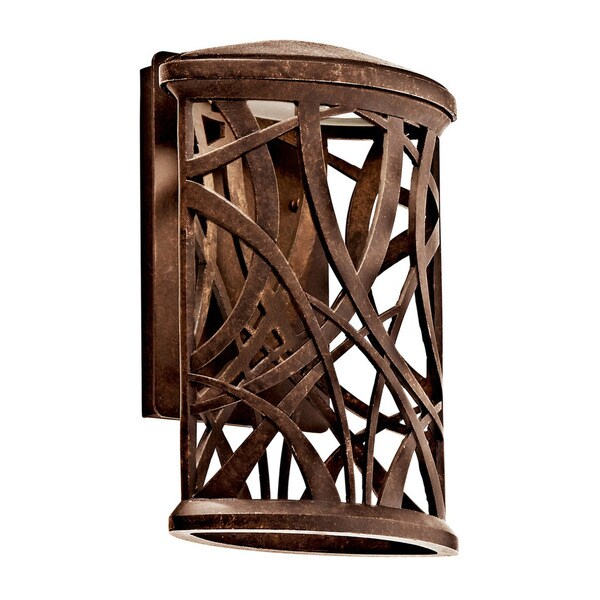 Shop Kichler Lighting Maya Palm Collection 1-light Aged Bronze LED ...