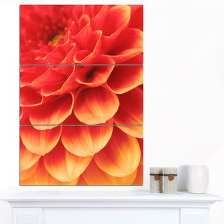 Designart 'Abstract Orange Flower and Petals' Modern Floral Canvas Wall Art