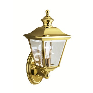 Kichler Lighting Bay Shore Collection 1-light Polished Brass Outdoor Wall Lantern