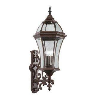 Kichler Lighting Townhouse Collection 3-light Tannery Bronze Outdoor Wall Lantern