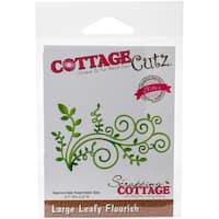 "CottageCutz Elites Die-Large Leafy Flourish, 3.7""X2.2"""