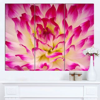Designart 'Smooth Purple White Flower Petals' Modern Floral Canvas Wall Art