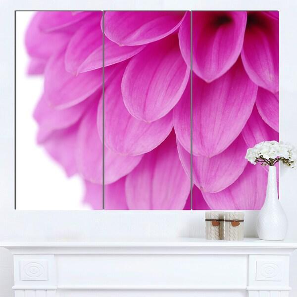 Designart 'Soft Purple Abstract Flower Petals' Modern Floral Canvas Wall Art