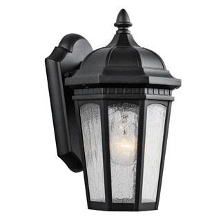 Kichler Lighting Courtyard Collection 1-light Textured Black Outdoor Wall Lantern