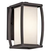 Kichler Lighting Bowen Collection 1-light Architectural Bronze Outdoor Wall Sconce