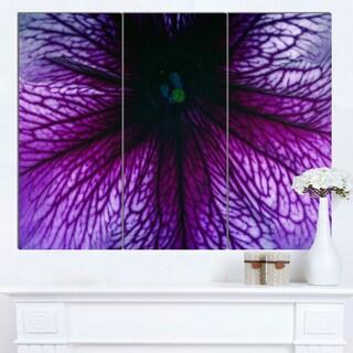 Designart 'Abstract Purple Floral Design' Modern Floral Canvas Wall Art