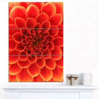 Designart 'Orange Abstract Floral Design' Modern Floral Canvas Wall Art