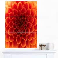 Designart 'Close-Up Orange Flower Petals' Extra Large Floral Canvas Art