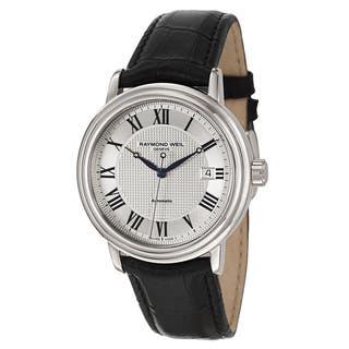 Raymond Weil Men's Stainless Steel Case Leather Strap Maestro 2837-STC-00659 Automatic Watch|https://ak1.ostkcdn.com/images/products/13526470/P20207282.jpg?impolicy=medium